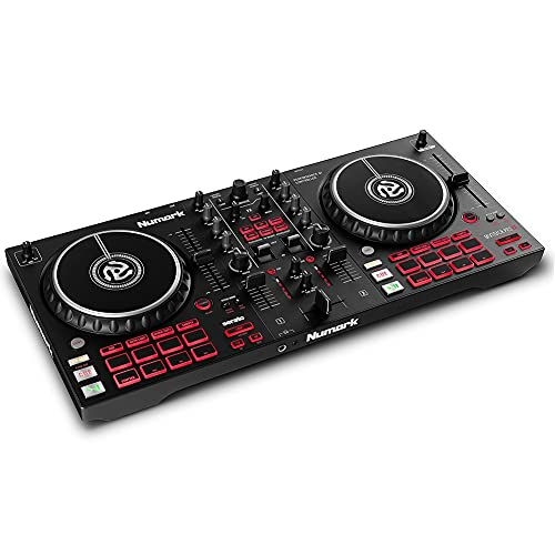 Numark Mixtrack Pro FX – 2 Deck DJ Controller For Serato DJ with DJ Mixer, Built-in Audio Interface, Capacitive Touch Jog Wheels and FX Paddles