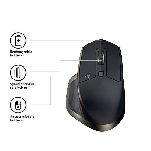Logitech MX Master   Maus (Kabellos, USB Empfänger, Bluetooth) - 4