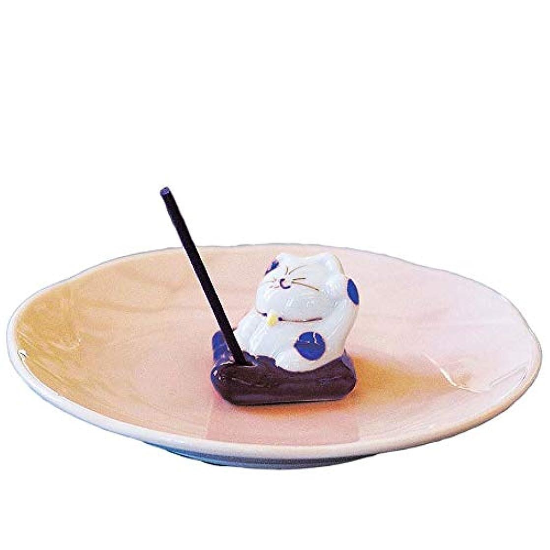迷信リス冷凍庫香皿 香立て/ザブトンネコ 香皿 ブルー/香り アロマ 癒やし リラックス インテリア プレゼント 贈り物
