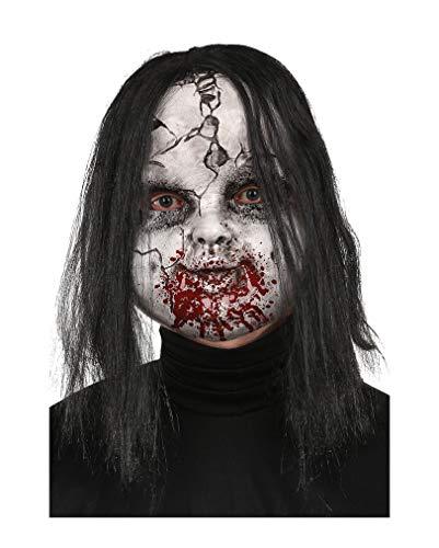Broken Doll Zombie-Maske für Halloween & Horror-Fans