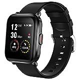 LIFEBEE Smartwatch, Fitness Armband mit Pulsuhr 18 Sportmodus Smart Watch mit Schrittzähler, Stoppuhr Damen Herren (Schwarz)