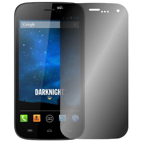 Slabo Blickschutzfolie Wiko Darknight Sichtschutz Bildschirmschutzfolie View Protection|Sichtschutz Privacy Made IN Germany - Schwarz