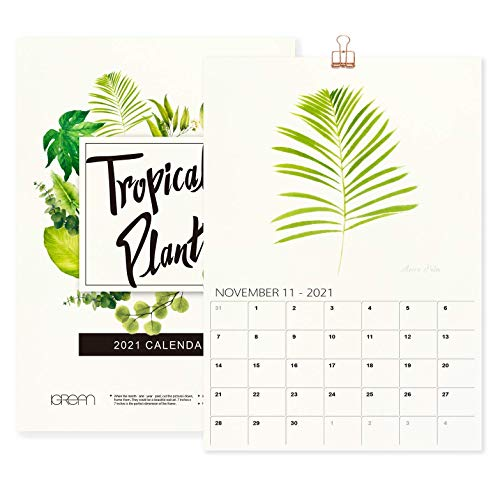 """""""The Silence of Plants"""" 2021 A4 Wall Calendar, Mother's Day Gift Art Print Featured Botanical Painting in Watercolor C5"""