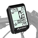 DOSNTO Cuentakilómetros de Bicicleta, Bici Velocímetro de Bicicleta de múltiples Funciones Computadora para Bicicleta Ciclocomputadores Odómetro Podómetro