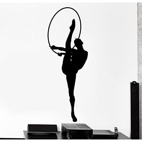 Wall Stcker Sport Gymnastic Gymntast Mädchen Weiblich Frau Vinyl Aufkleber 40X114Cm