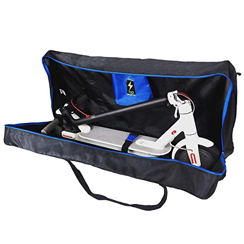 E-Scooter Bag Bolsa de Transporte para Patín eléctrico Accesorios Patinete Xiaomi M365 Funda Compatible con Ecogyro,GScooter, Cecotec con Espacio para Cargador