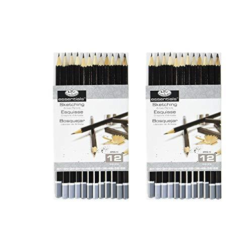 Royal & Langnickel Essentials Sketching Pencil Set, 12-Piece (2)
