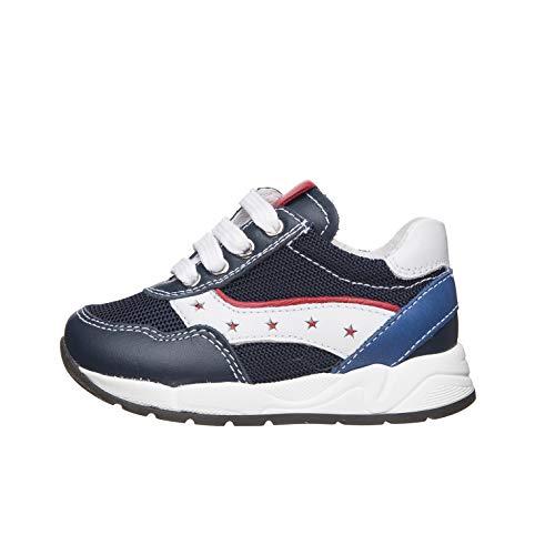 Nero Giardini E023820M Sneakers Kids da Bambino in Pelle E Tela - Incanto 26 EU