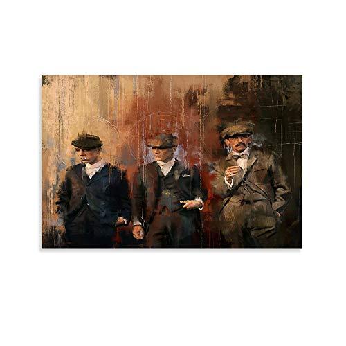 TOUKUI Póster de Shelby Brothers Peaky Blinders sobre lienzo, impresión artística moderna para habitación familiar, 30 x 45 cm
