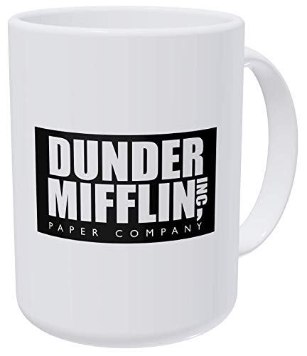 Willcallyou Dunder Mifflin The Office, Boss 15 Ounces Double Side Printed Funny White Coffee Mug