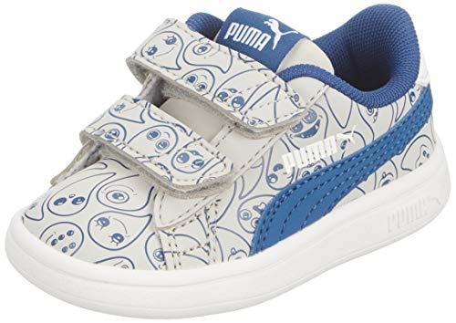 Puma Unisex Kinder Smash V2 Monster Family V Sneaker, Blau (Limoges White-High Rise), 35 EU