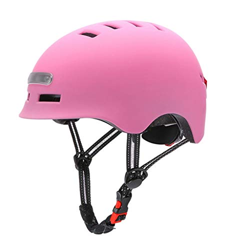 N/A. Casco de bicicleta de montaña unisex con luces de advertencia iluminadas,...