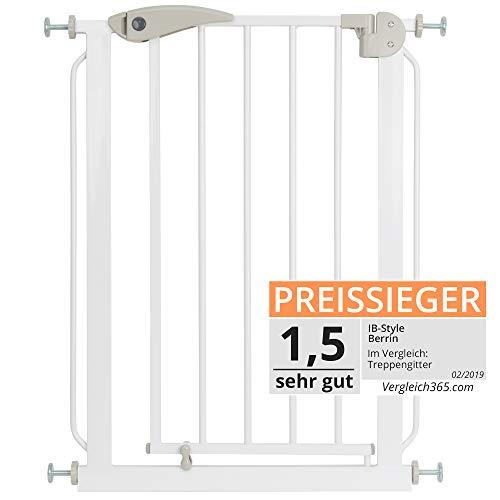 ib style® Berrin XS Treppengitter 58-156cm | Ohnen Bohren |Auto-Close| 90° Stop | Einhand Bedienung | 58-66 cm