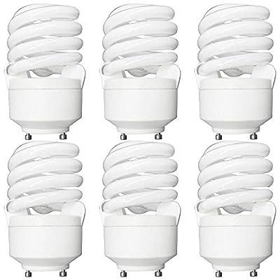 Luxrite LR22310 CF20 20-Watt CFL T2 Spiral Bulb, Equivalent To 75W Incandescent, Warm White 2700K, 1300 Lumens, GU24 Bi-Pin Base