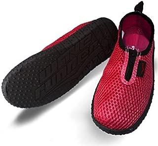 Wave Runner Quick Dry Water Shoes Aqua Socks Barefoot Slip-On with Zipper for Men Women & Children
