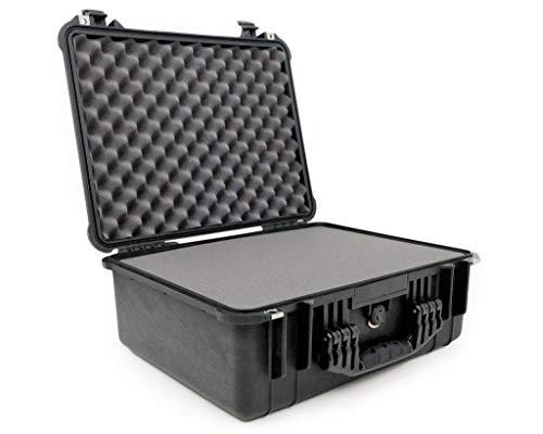 PELI 1550 Großer Professioneller Schutzkoffer für Empfindliches Equipment, IP67 Wasserfest, 33L Volumen, Hergestellt in Deutschland, Mit Schaumstoffeinlage (Anpassbar), Schwarz