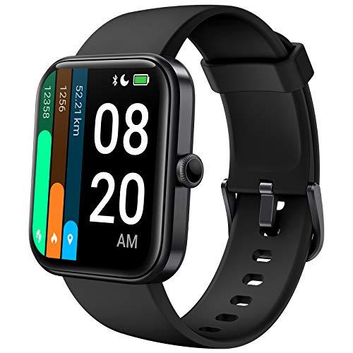 Smartwatch, Lifebee Fitness Armbanduhr mit Pulsuhr 1.69-Zoll Touchscreen Fitnessuhr Sportuhr Damen Herren, 5ATM Wasserdicht Pulsoximeter Schrittzähler Uhr Stoppuhr Watch Uhr mit Alexa integriert
