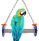 Sweet Feet and Beak Roll Swing and Perch Bird Toys - Keeps Nails and Beak in Top Condition - Handmade Pet Supplies - Safe and Non-Toxic Bird Cages Accessories - Parrot Toys (10.5