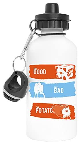 Portal The Good The Bad The Potato Aluminio Reutilizable Deporte Viaje Botella de Agua Blanco Aluminium Reusable Sport Travel Water Bottle White
