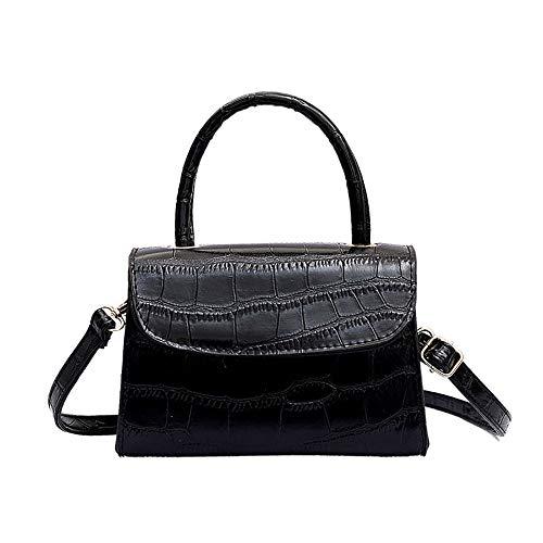 LEXUPE Frauen Retro Tragbare Kleine Quadratische Tasche Wilde Schultertasche Messenger Bag