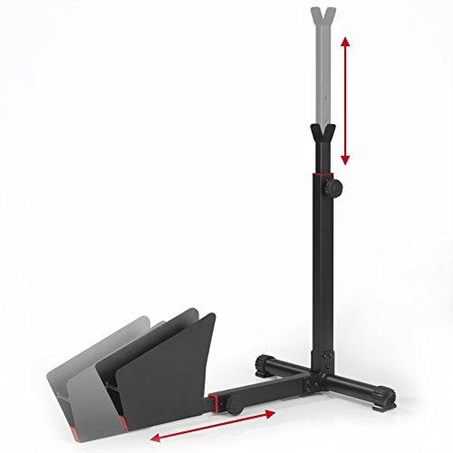 EASYmaxx Hinterradständer Fahrradständer für Wohnung und Keller aus Stahl - 2