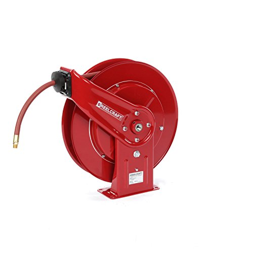 Reelcraft 7850 OLP 1/2-Inch by 50-Feet Spring Driven Hose Reel for Air/Water