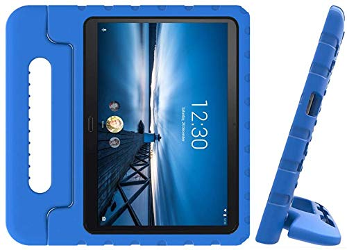 Golden Sheeps Kid Friendly Case Compatible for LG G Pad 5 10.1 inch 2019 T600 T605 Shockproof Ultra Light Weight Convertible Handle Stand Cover (Blue)