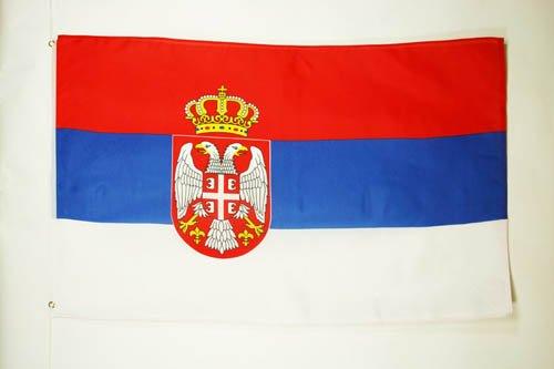 AZ FLAG Flagge SERBIEN 150x90cm - SERBISCHE Fahne 90 x 150 cm - flaggen Top Qualität
