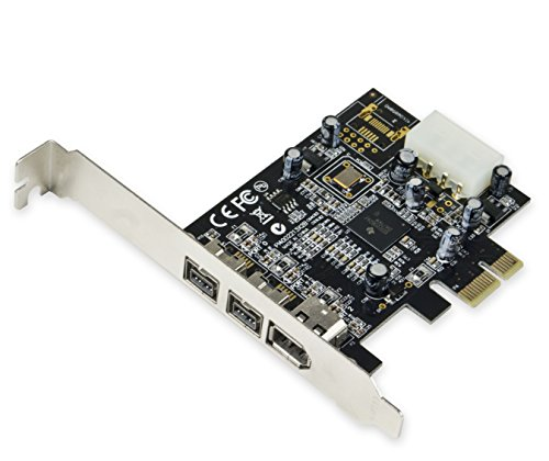 Syba SY-PEX30016 3 Port IEEE 1394 Firewire 1394B & 1394A PCIe 1.1 x1 Card TI XIO2213B Chipset Requires Legacy Driver for Windows 8 10