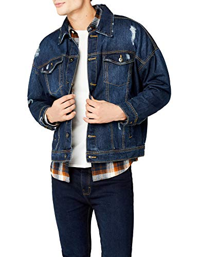 Urban Classics Ripped Denim Jacket Chaqueta, Azul (Blue Washed 799), XXL para Hombre
