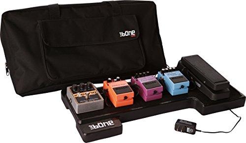 "Gator Cases Bone Molded Polyethylene Guitar Pedal Board with Lightweight Carry Bag; USA Made, 23.75"" x 10.25"" x 2"" (G-BONE)"