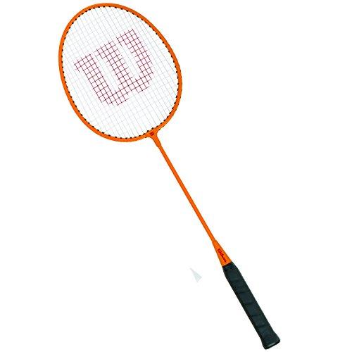 Wilson Badminton Set, Gear Kit, Unisex, Incl. Two Badminton Rackets, Two Plastic Shuttlecocks and One Carry Bag, Orange/Yellow, WRT8755003