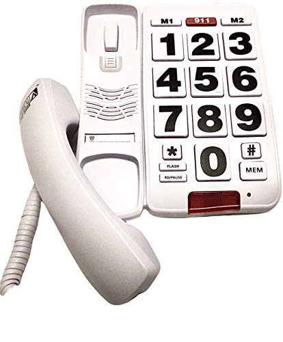 Future Call FC-8888 Big Button Telephone, Amplified handset up to 40db, Very Helpful Phone for Hearing, Vision, and Dementia Related Issues