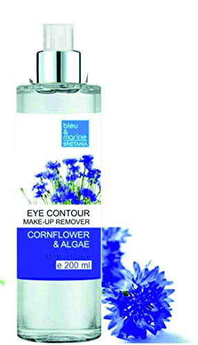 Bleumarine Bretania Desmaquillante Suave - Agua Micelar con Agua de Aciano y Algas - Contorno de Ojos 200ml-