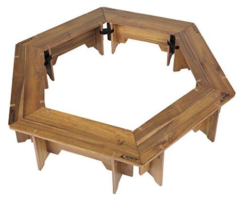 キャプテンスタッグ(CAPTAIN STAG) テーブル ヘキサグリルテーブルセット 収納バッグ付き CSクラシックス
