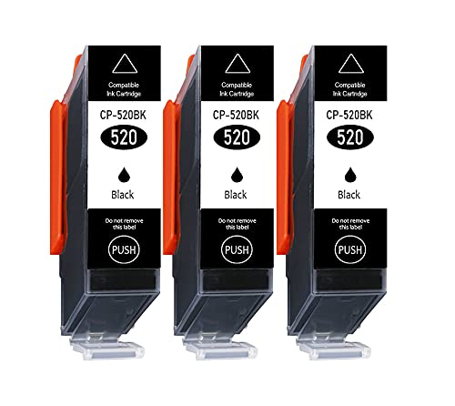 3er Pack nur Schwarz 550XL 551XL Kompatible Druckerpatronen Multipack für Canon PGI-550 XL CLI-551 XL Canon Pixma MG5650 MG5550 MG6350 MG6450 IP7250 IP7200 MX725 MX920 MX925 IX6850