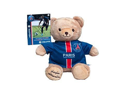 Plüschtier PSG Kylian MBAPPE – PSG Bär – Offizielles Plüschtier Paris Saint Germain – Maskottchen 20 cm