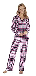 STYLE: Get Cosy On The Sofa With This Two Piece Pyjama Set. The Set Includes Button Up Collared Shirt, Long Sleeves And Matching Bottoms With An Elasticated Waistband For Added Comfort. DETAILS: Made From High-Quality 100% Cotton For Added Maximum Wa...