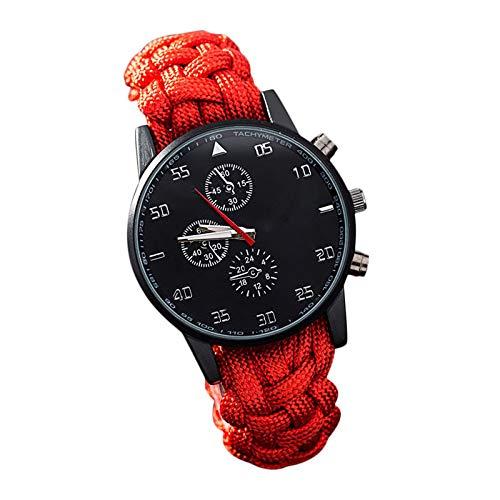 Sportliche Digitaluhr für Jugendliche Damen und Männer Outdoor Aktivitäten Uhren Meter Wasserdicht Schwimmen Herren Funktions Armbanduhr mit Zeit Alarm Countdown Glockenspiel Dual Time Zone Rot 25653