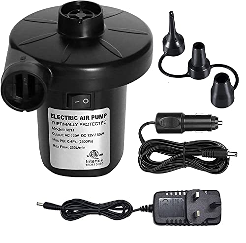 Electric Air Pump, Air Mattress Pump for Inflatable Blow up Pool Raft Bed Boat Toy Exercise Ball,...
