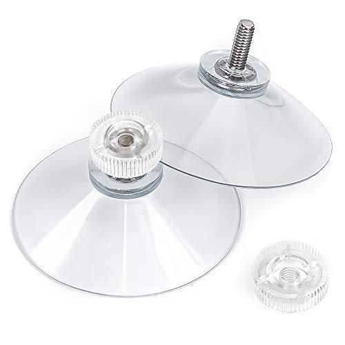 schildEVO Saugnäpfe Ø 50 mm | M4 Gewinde – Länge 10 mm | V2A Edelstahl | Rändelmutter | DHL-Versand | HOCHWERTIG - Made in Germany (Transparente Rändelschrauben, 30)