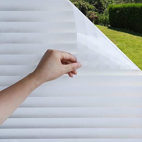 Mangobox Sichtschutz-Fensterfolie, nicht klebend, matt, dekorative Fensterfolie für Zuhause, Büro, Badezimmer, Sicherheit, Abdeckung, weiß, blickdicht, UV-blockierend 35.4X78.7 inches
