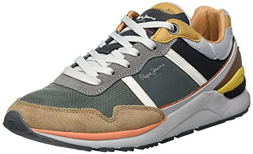 Pepe Jeans X20 Basic, Zapatillas Hombre, 879 marrón, 45 EU