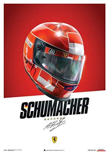 Automobilist Store Ferrari F1-2000 - Michael Schumacher - Helm - Einzigartiges Design, Poster - Standard Poster Format 50 x 70 cm