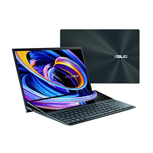 "ASUS ZenBook Duo 14 UX482 14"" FHD NanoEdge Touch Display, Intel Evo Platform, Core i5-1135G7, 8GB RAM, 512GB PCIe SSD, Innovative ScreenPad Plus, Windows 10 Home, Celestial Blue, UX482EA-ES51T"