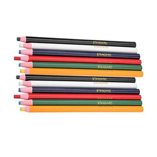 12 piezas sastres tiza lápiz sin cortar sastre herramientas de marcado y rastreo marcador de costura lápiz DIY tela de cuero coser acolchado marcador