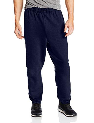 Hanes Men's EcoSmart Fleece Sweatpant, Navy, Large (Pack of 2)