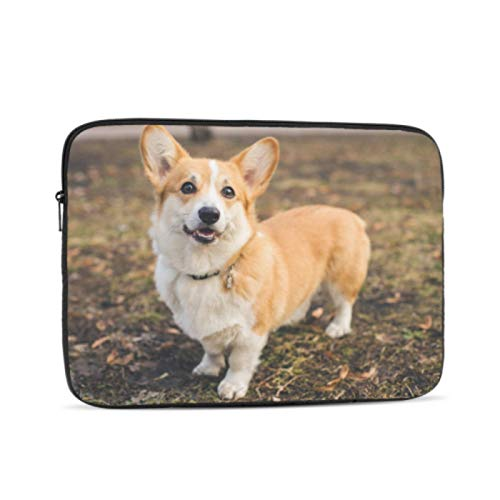 Laptop Case Cute and Lovely Small Corgi Puppy Laptop Case Multi-Color & Size Choices 10/12/13/15/17 Inch Computer Tablet Briefcase Carrying Bag
