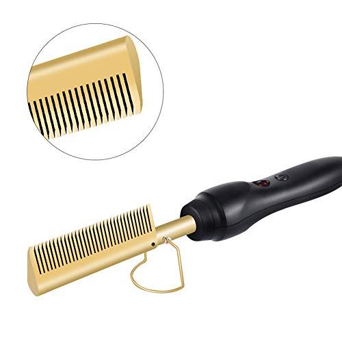 HSART Cabello Alisador Comb Rizador,Hot Electric Rizador,para Dar El Pelo Grueso Un Aspecto Suave Y Liso,Apagado Automático