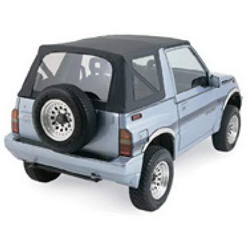 RAMPAGE PRODUCTS 98815 Factory Replacement Soft Top for 1995-1998 Suzuki Sidekick/Geo Tracker, Black Denim